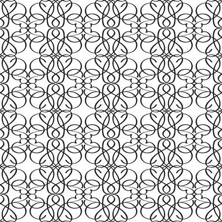 Abstract Elegant Monochrome Seamless Pattern