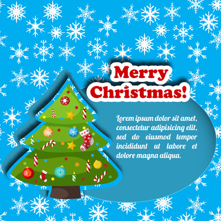 Christmas decorative card vector illustration Çizim