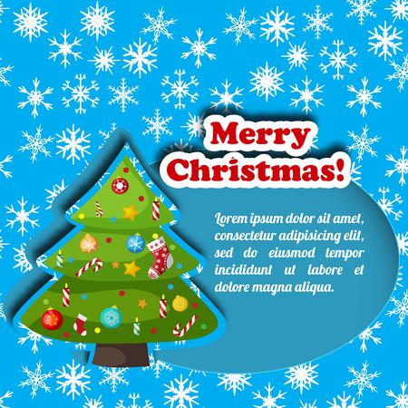 Christmas decorative card vector illustration Illustration