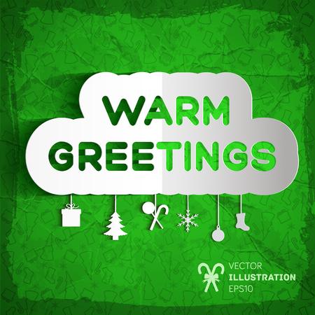 Warm Greetings Background Illustration