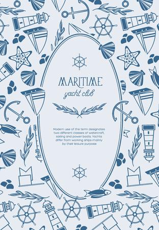 Maritieme ovale jachtclub Poster