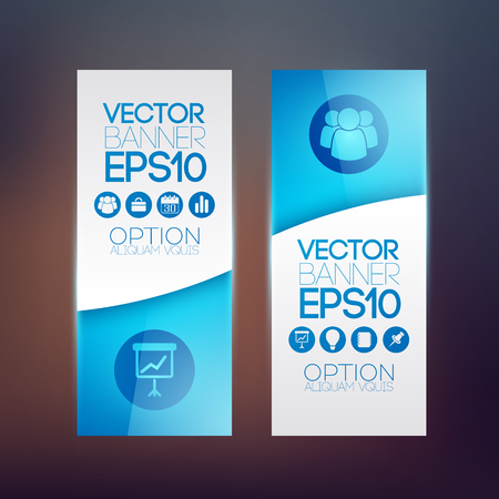 Business info graphic vertical banners.