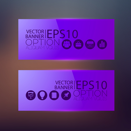 Abstract business web horizontal banners.