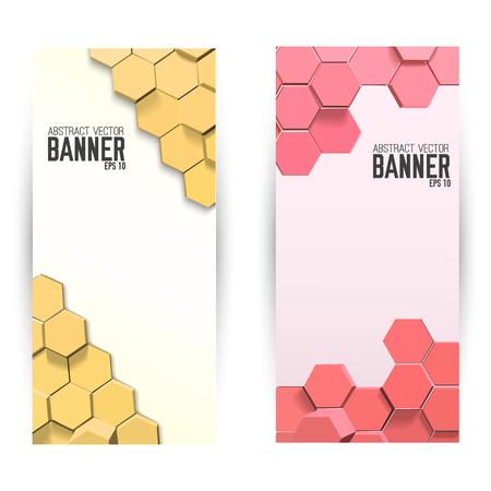 Abstract Mosaic Vertical Banners