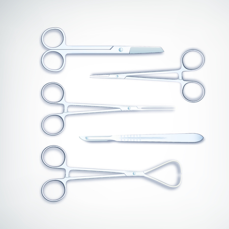 Illustrazione realistica di vettore dell'insieme di strumenti medico. Archivio Fotografico - 92424855