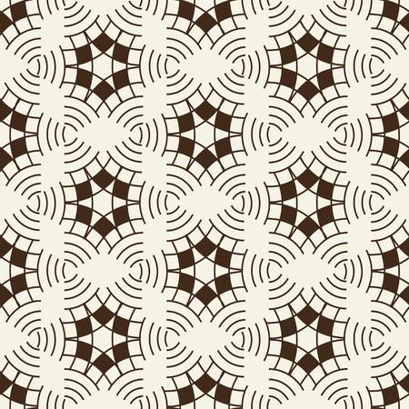 Light Vintage Monochrome Seamless Pattern Illustration
