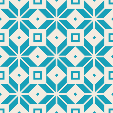 Borderless geometric square pattern with blue lines and repeatable squares boxes. Imagens - 92424877