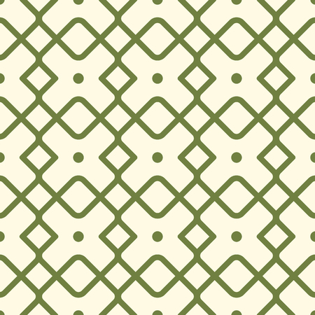 Borderless geometric square pattern with green lines, many simple repeatable shapes as boxes illustration. Imagens - 92424881