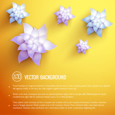 Realistic natural beautiful poster with text and elegant colorful lotus flowers vector illustration