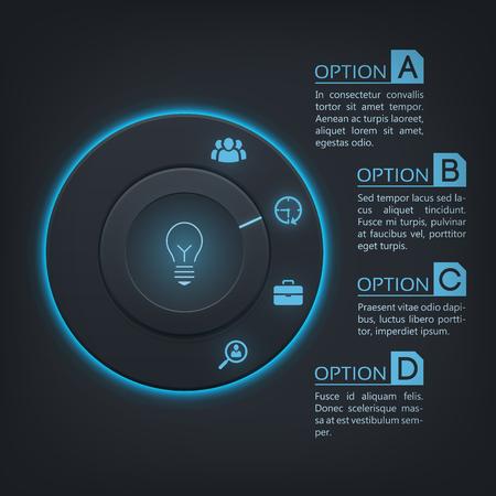 Web Infographic Design Concept.