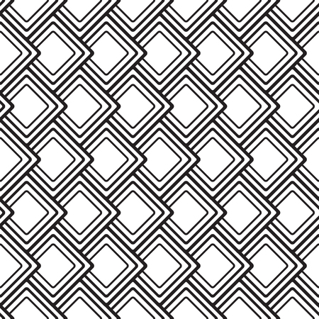 Abstract geometric seamless pattern with rhombus repeating shapes in minimalist monochrome style vector illustration.