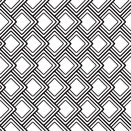 Abstract seamless pattern géométrique avec losange répétant des formes en illustration vectorielle de style monochrome minimaliste. Vecteurs