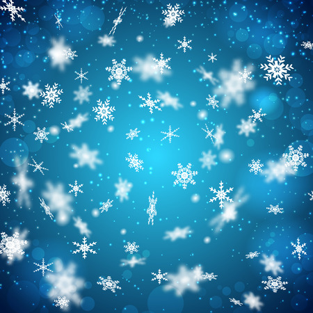 Falling Snowflakes Background Illustration