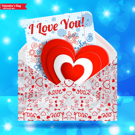 Valentines day card design template vector illustration
