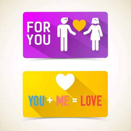 Romantic Flat Horizontal Banners