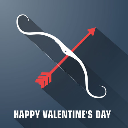Valentines Day Romantic Flat Template with arrow