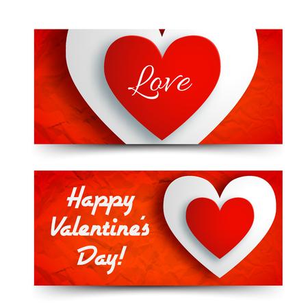 Romantic Greeting Horizontal Banners
