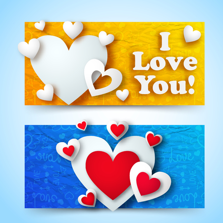 Valentines Day Greeting Horizontal Banners