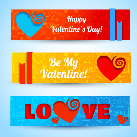 Amorous Abstract Horizontal Banners