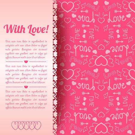 Romantic Invitation Card Ilustração