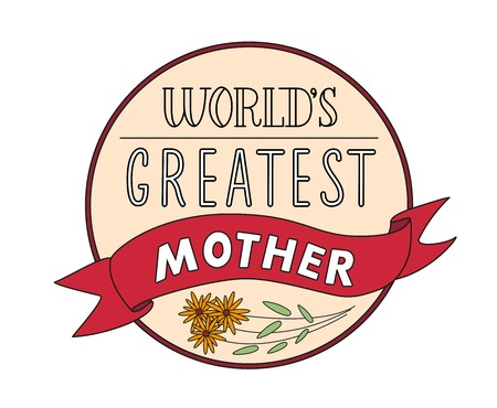 Mothers Day Festive Round Label Template