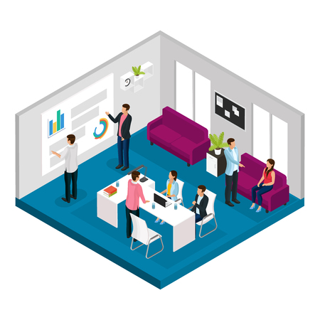 Isometric Business Meeting Concept