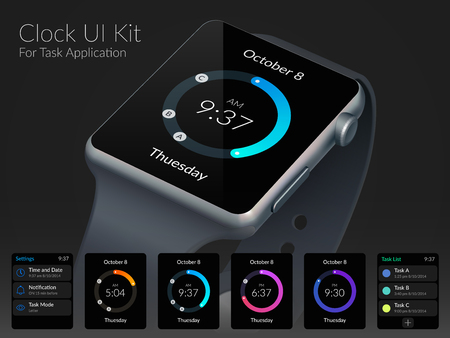 Mobile UI Kit Stock Illustratie