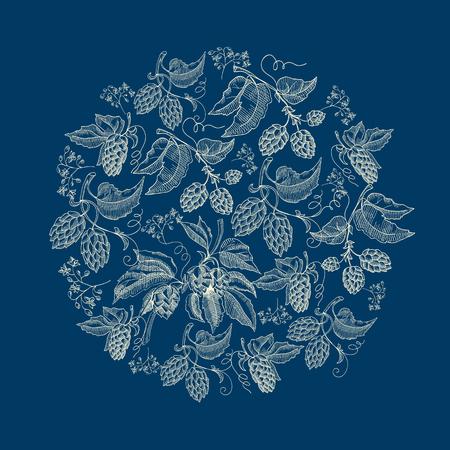 抽象的な自然の丸いリースブルーの背景