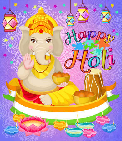 Light Indian Holi Holiday Poster