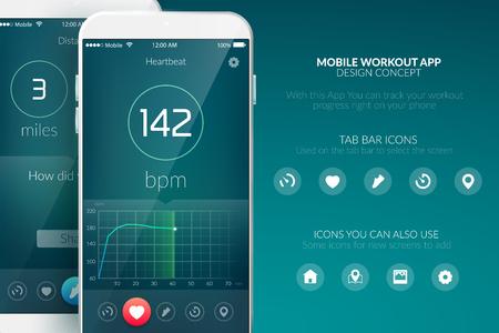 Mobile App Design. 向量圖像