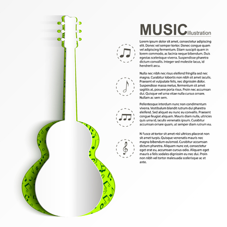 Musical Abstract Template  イラスト・ベクター素材