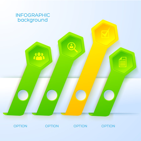 Web abstracte Infographic Concept