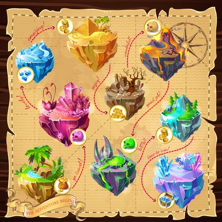 Isometric Game Map Template Illusztráció