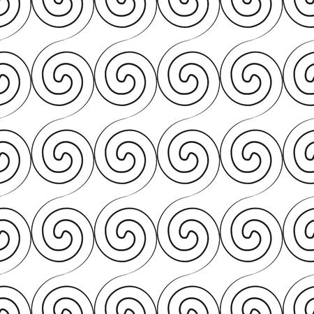 Abstract twirl minimalistic seamless pattern. Ilustracja