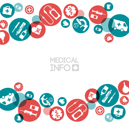 Medische info lichtsjabloon Stock Illustratie