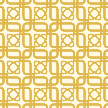 White And Yellow Kaleidoscope Seamless Pattern