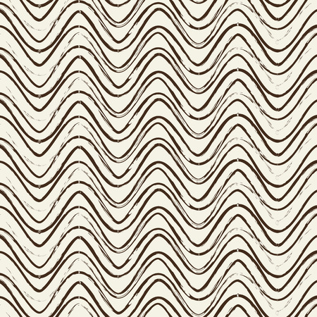 Vector Seamless Pattern With Ripple Black Lines