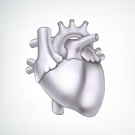 Monochrome Medical Organ Cardio Design Concept Illustration