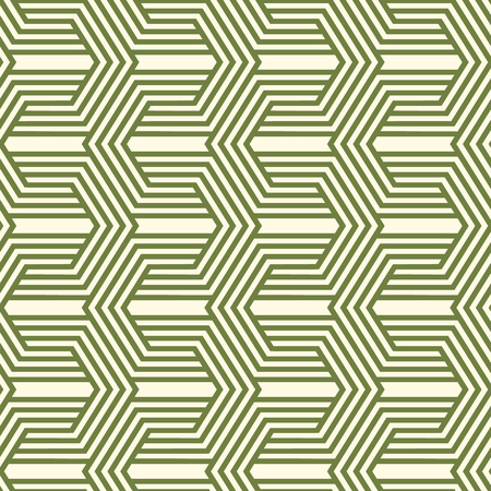 Decorative kaleidoscope seamless pattern with green geometric shapes Çizim