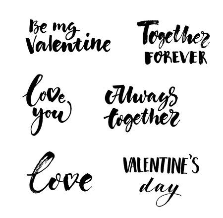 Amor e coleta de inscrições de dia dos namorados Ilustración de vector