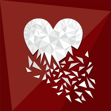 Digitale geometrische romantische Vorlage