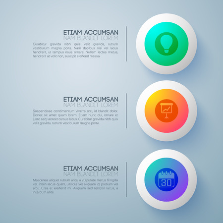Pictogram Round Buttons Background