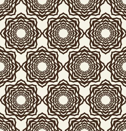 Monochrome Seamless Geometrical Flower Pattern