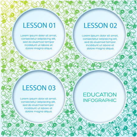 Education Infographic Template Illustration