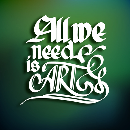 Art Typographical Concept