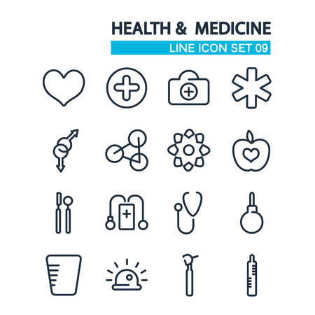 Line Healthcare Icons Collection