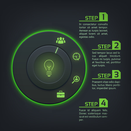 Abstract Web Interface Infographics