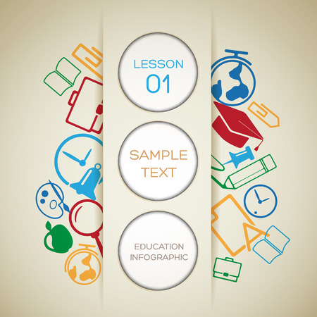 Back To School Infographic Template 向量圖像
