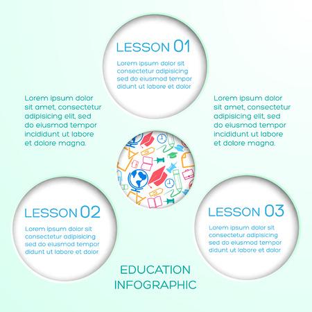 Educatieve abstracte infographics. Stock Illustratie