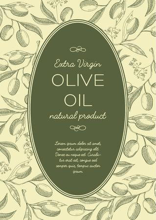Abstracte vintage groene poster